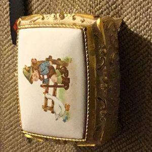 Like New Hummel style small musical jewelry box